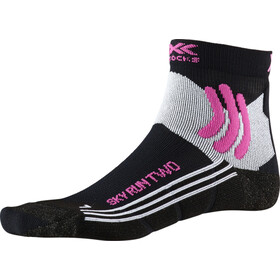 X-Socks Sky Run Two Calcetines Running Mujer, black melange